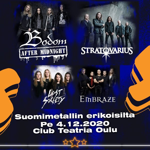 Bodom After Midnight Announce Live Date With Stratovarius Lost Society And Embraze In Oulu Finland Bravewords