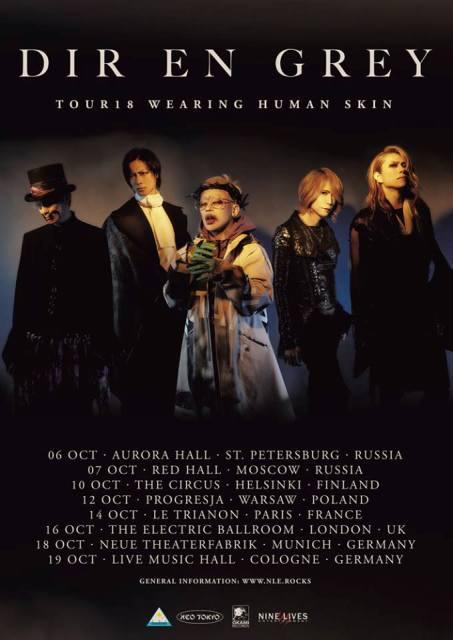 Dir En Grey Europe Tour