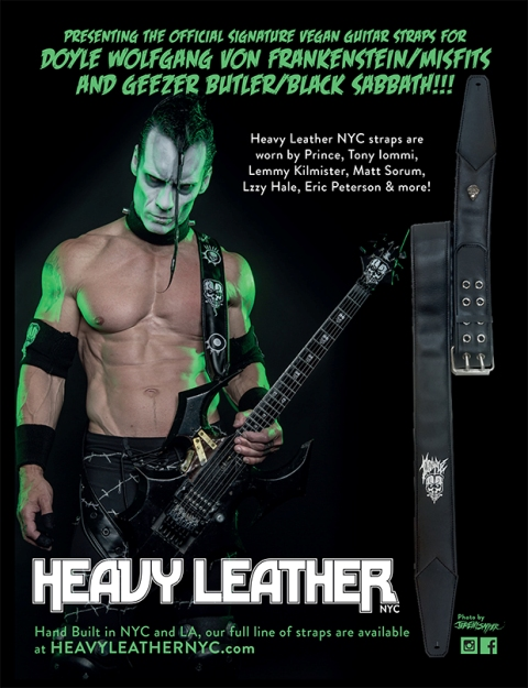 Doyle And Geezer Butler Signature Guitar Straps Available Via Heavy Leather Nyc Bravewords