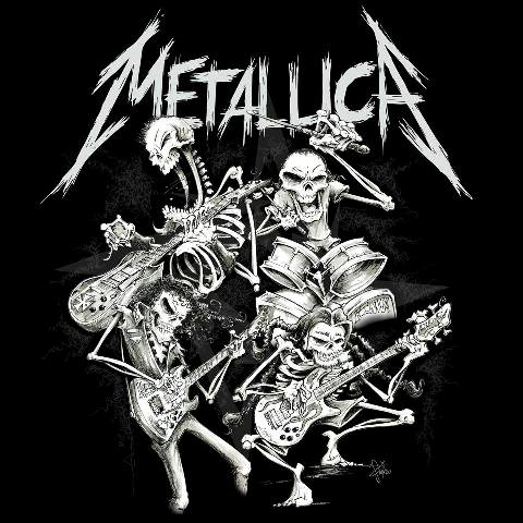 metallica new official t shirt design unveiled now available. Black Bedroom Furniture Sets. Home Design Ideas