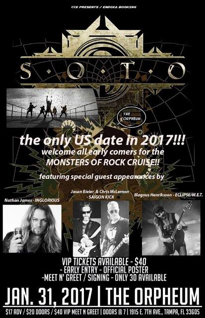 SAIGON KICK Members To Guest At Upcoming SOTO Show In Tampa