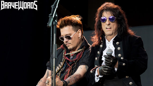 ALICE COOPER, JOE PERRY, JOHNNY DEPP Bring HOLLYWOOD VAMPIRES To Sweden