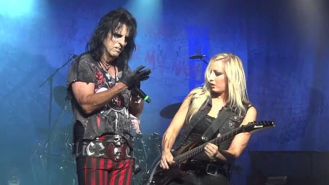 ALICE COOPER / THE IRON MAIDENS Guitarist Nita Strauss Guests On Sixx Sense; Audio Interview Available