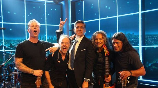 "METALLICA Kick Off Residency On Late Late Show With Craig Ferguson With ""Hit The Lights""; Video"
