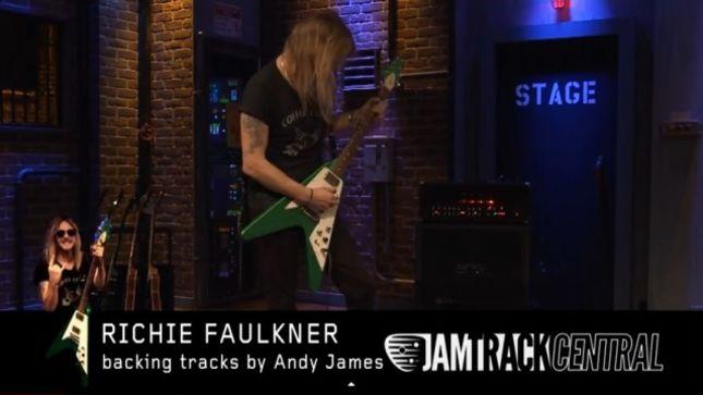 "JUDAS PRIEST Guitarist Richie Faulkner Performs ""Dark Embrace"" On EMGtv"