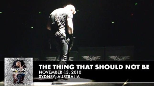 "METALLICA - ""The Thing That Should Not Be"" Live From Sydney 2010 Streaming"