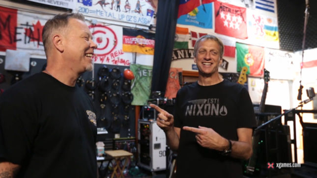 METALLICA's James Hetfield In Conversation With TONY HAWK; Video