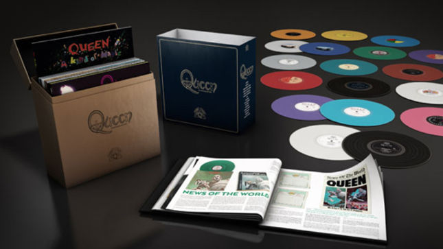 QUEEN - The Studio Collection Special Edition Vinyl Box Set And Limited Turntable Coming In September; Video Trailer Streaming