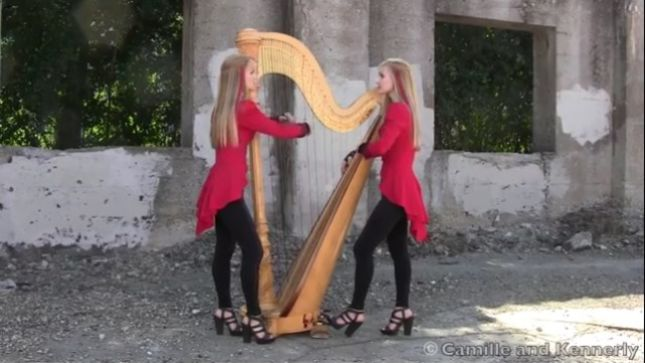 "Harp Twins CAMILLE AND KENNERLY Cover METALLICA's ""One""; Video Streaming"