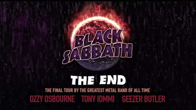 BLACK SABBATH: The End - Dates Announced For The Final Tour; Video Announcement Streaming
