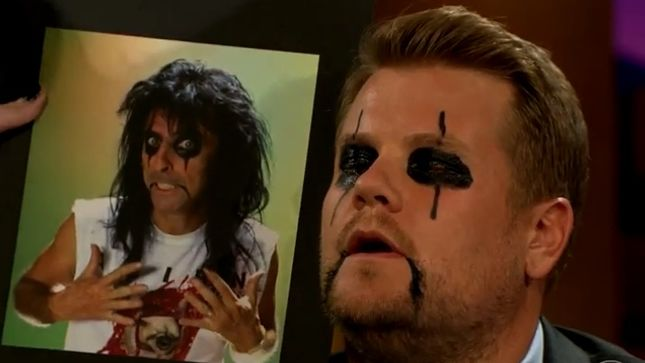 "ALICE COOPER Cooper On The Late Late Show With James Corden - ""I Was More Than Happy To Be Captain Hook For Rock N' Roll"""