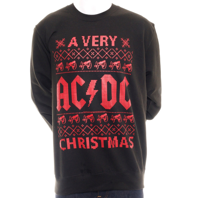 Dc Christmas Sweater.Shop Or Bust A Very Ac Dc Christmas Sweatshirt Now