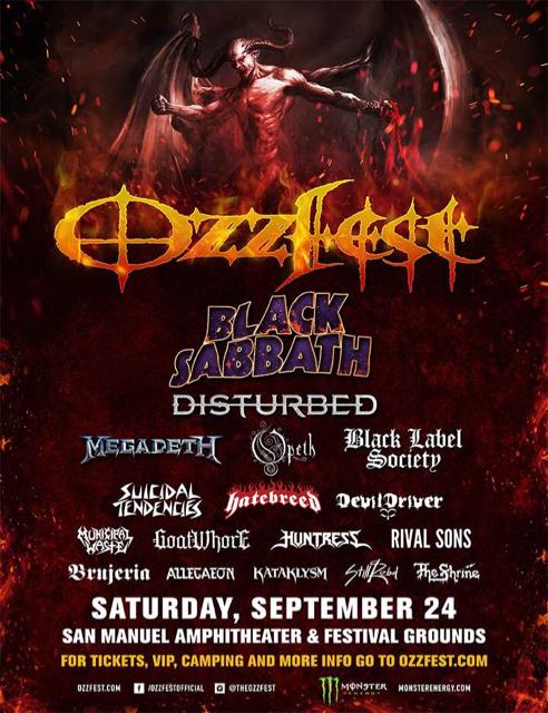 Ozzfest  Tour Schedule