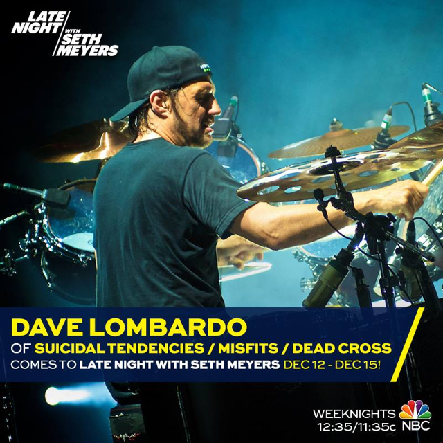 """DAVE LOMBARDO Performs """"War Inside My Head"""" With SUICIDAL"""
