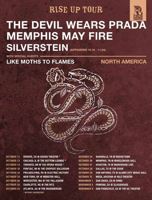 THE DEVIL WEARS PRADA Announce North American Fall Tour With MEMPHIS