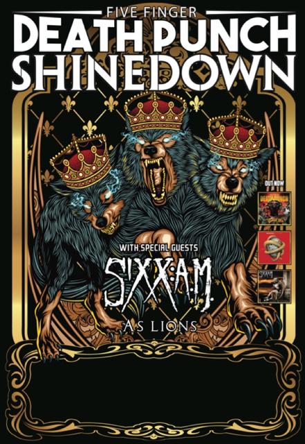 Five Finger Death Punch Live Concert Tour Date 2015 LKM1 Tee T - Shirt ...