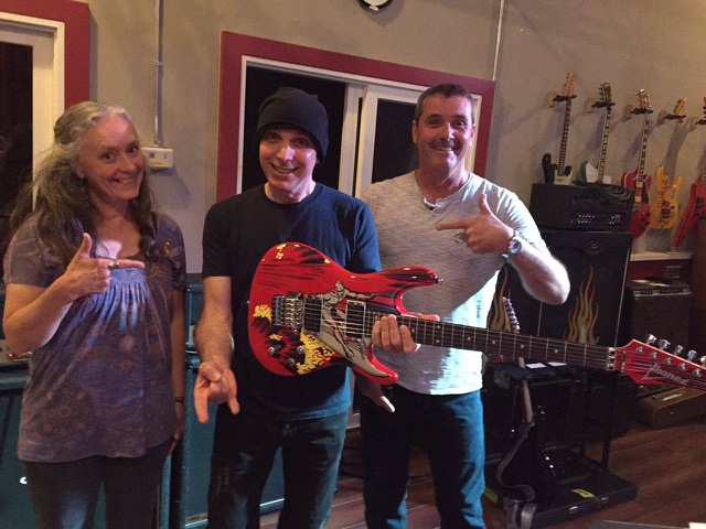 Joe satriani to launch european dates in france little kids rock on june 4th brian debbie flew to meet joe and receive the autographed guitar the funds raised through the raffle will enable little kids rock to bring m4hsunfo
