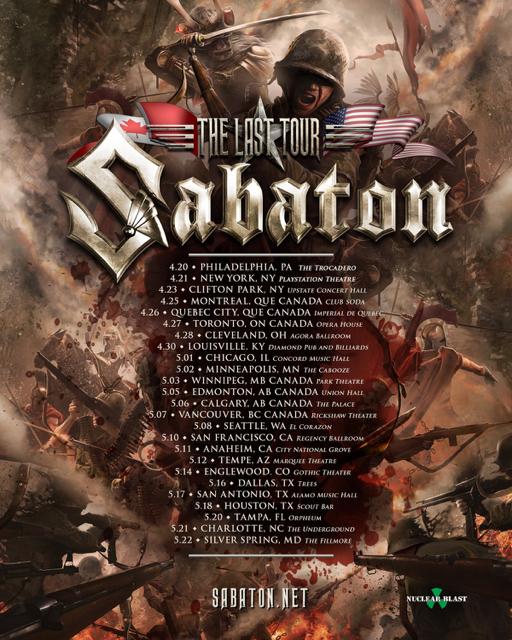 Sabaton Announce 2017 North American Tour Bravewords Com