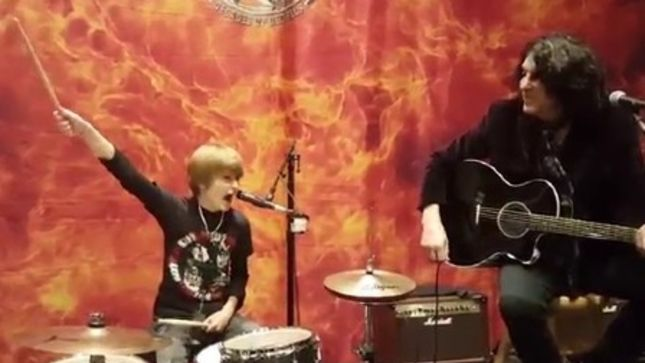 "KISS Perform ""Nothin' To Lose"" Acoustic With 12 Year-Old Drummer LOGAN ""ROBOT"" GLADDEN, Video Posted"