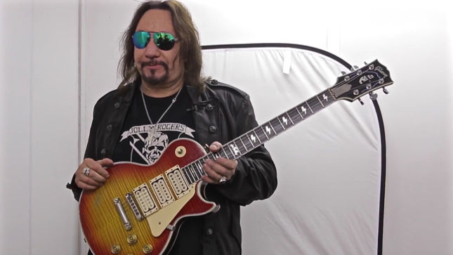 ACE FREHLEY Shows Off Gibson Les Paul Custom Signature Guitar From KISS Reunion Era; Video