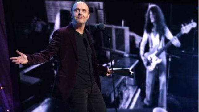 DEEP PURPLE Inducted Into Rock And Roll Hall Of Fame By LARS ULRICH -