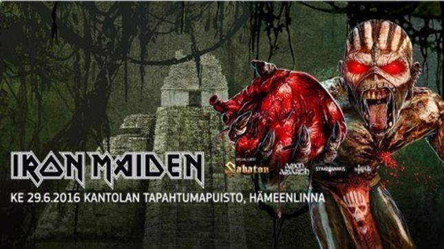 IRON MAIDEN - Lithuanian Authorities Ban Book Of Souls Tour