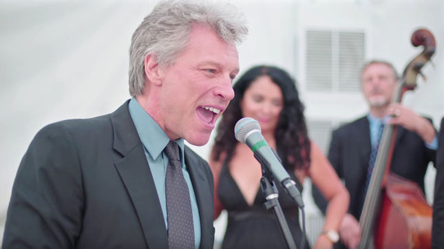 "JON BON JOVI Reluctantly Joins Wedding Band For ""Livin' On A Prayer""; Video Streaming"
