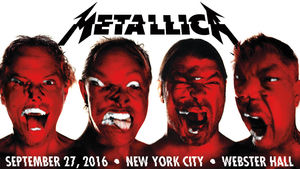 METALLICA Announce Intimate Webster Hall Show In New York