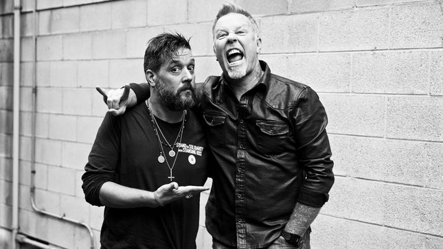 "METALLICA Singer JAMES HETFIELD Guests On The Strombo Show - ""We Have Done Lots Of Things That Have Not Been Considered OK By The Metal Rulebook""; Audio"