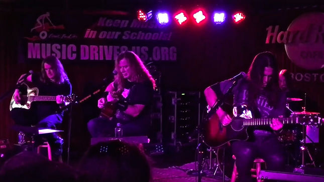 MEGADETH Perform Acoustically For Music Drives Us Fundraising Event In Boston; Video Streaming