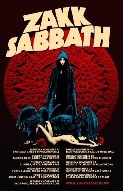 Zakk Sabbath Confirm South American Mexican Tour Dates