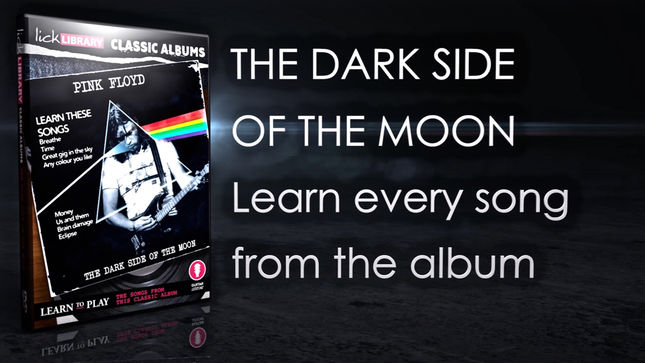 PINK FLOYD - The Dark Side Of The Moon Guitar Lesson Course Now Available; Video Trailer Streaming