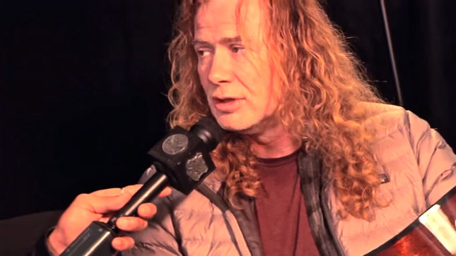 MEGADETH Frontman DAVE MUSTAINE At NAMM 2017; Dean Guitars ...