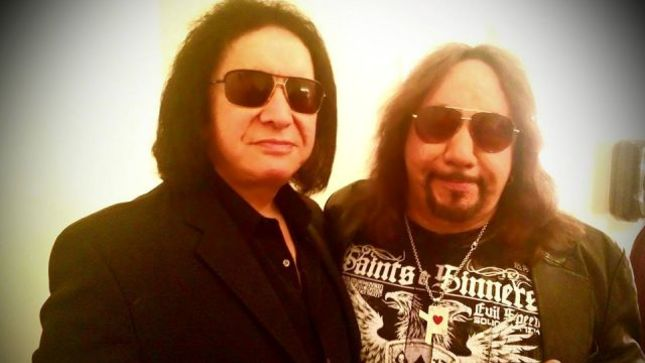 GENE SIMMONS Attends ACE FREHLEY's Show In Beverly Hills, CA