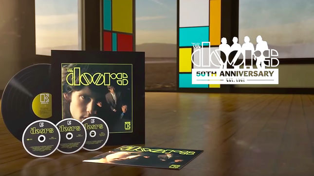 THE DOORS - 50th Anniversary Deluxe Edition Of Debut Album Due In March; Unboxing Video Streaming