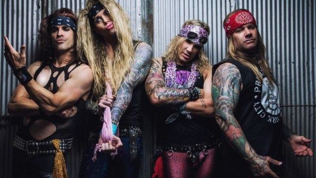 STEEL PANTHER Receive American Flags, Bomb Pins From US Military; Back Stage Video