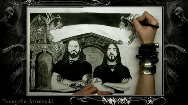 ROTTING CHRIST Post Time-Lapse Video Of Kata Ton Daimona Eaftou Drawing