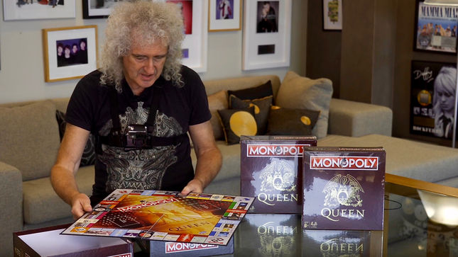BRIAN MAY Unboxes QUEEN Monopoly Board Game; Video