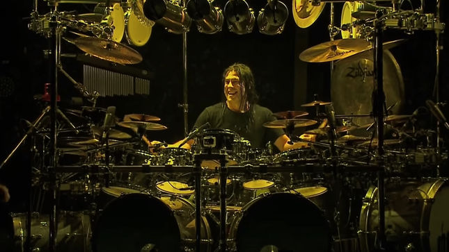 DREAM THEATER Drummer MIKE MANGINI Offers Tour Of Art In His Home Studio; Video