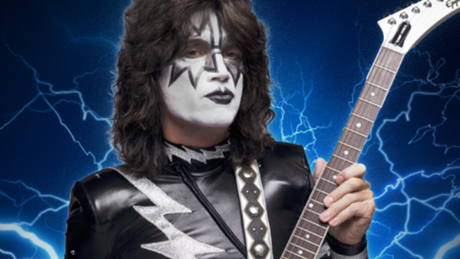 TOMMY THAYER - Stage Played Epiphone Signature White Lightning Explorer Available For Purchase During KISS Kruise VII