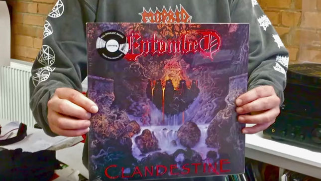 ENTOMBED's Clandestine Available On Limited Edition Full Dynamic Range Silver Vinyl; Video Preview