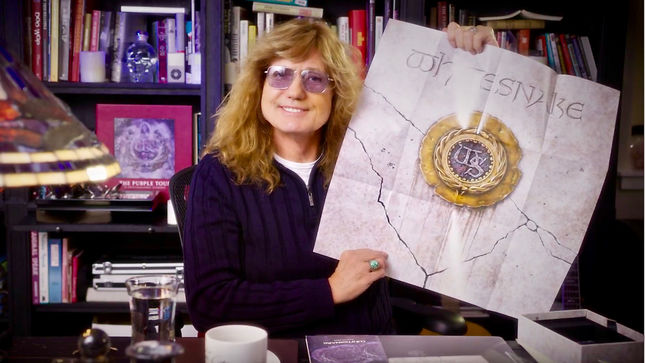 "WHITESNAKE Singer DAVID COVERDALE Unboxes 30th Anniversary Super Deluxe Edition Of 1987 Album - ""The Size Of This Thing! It Looks Like The Lord Of The Rings Trilogy!""; Video"