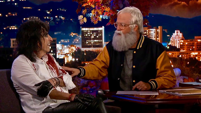 ALICE COOPER Guests On Jimmy Kimmel Live With Guest Host DAVE GROHL; Videos Include Frozen / METALLICA Mash-Up, Alice Performance With FOO FIGHTERS