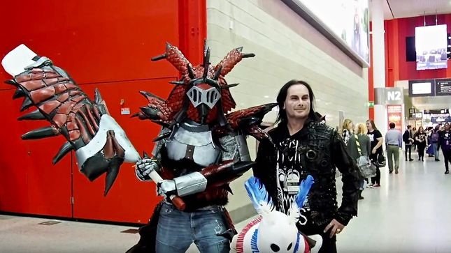 "CRADLE OF FILTH Leader DANI FILTH At MCM Comic Con London - ""What's In My Bag?"" Video Streaming"