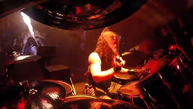 "SLAYER – Drum-Cam Footage Of Paul Bostaph Performing ""Born Of Fire"" Streaming"