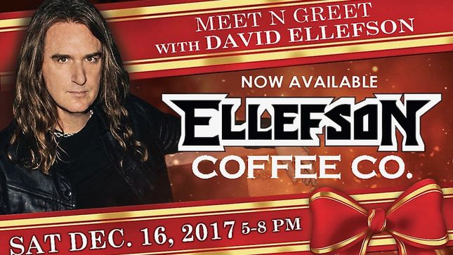 DAVID ELLEFSON's Ellefson Coffee Co. Celebrates New Retail Outlets With Holiday Event At Maverick Coffee In Scottsdale; Meet And Greet With Ellefson, Acoustic Performances By DOLL SKIN And CO-OP