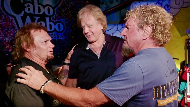 SAMMY HAGAR Streaming Red Til I'm Dead Film Clips Featuring EDDIE MONEY, TOBY KEITH; Video