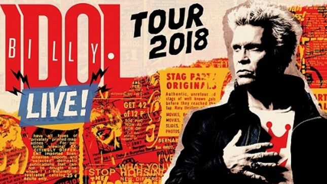 BILLY IDOL - New US Tour Dates Announced