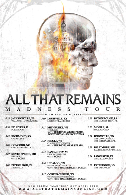 Madness Tour All That Remains
