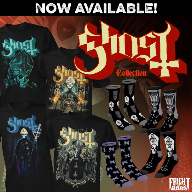 GHOST Teams With Fright-Rags For Exclusive Apparel